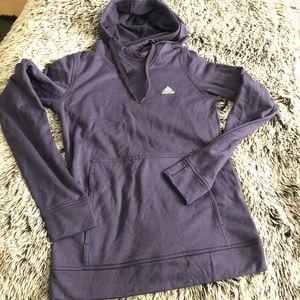 Adidas hoodie kangaroo pocket size S purple